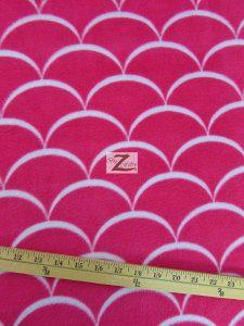 Nouveau Scales Anti-pill Polar Fleece Fabric By David Textiles Fuchsia