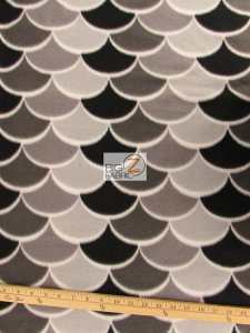 Nouveau Scales Anti-pill Polar Fleece Fabric By David Textiles