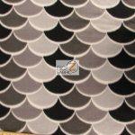 Nouveau Scales Anti-pill Polar Fleece Fabric By David Textiles Gray Black