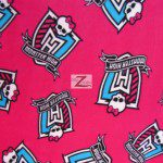 Monster High Anti-pill Polar Fleece Fabric By David Textiles Fuchsia