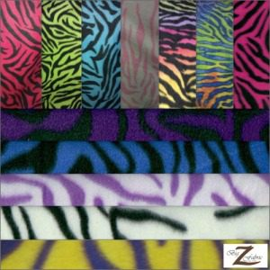 Zebra Anti-pill Polar Fleece Fabric