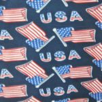 American USA Anti-pill Polar Fleece Fabric Flags