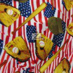American USA Anti-pill Polar Fleece Fabric Baseball American Pastime
