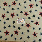 American USA Anti-pill Polar Fleece Fabric Stamped Stars
