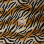 Fading Brown Zebra Anti-pill Fleece Fabric
