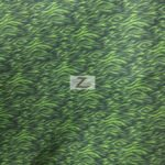 Zebra Anti-pill Polar Fleece Fabric Lime