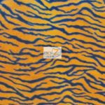 Zebra Anti-pill Polar Fleece Fabric Small Orange