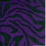 Zebra Anti-pill Polar Fleece Fabric Purple