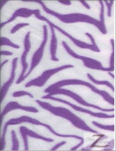 Zebra Anti-pill Polar Fleece Fabric White Purple