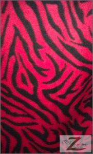 Zebra Anti-pill Polar Fleece Fabric Red