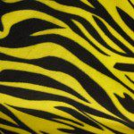 Zebra Anti-pill Polar Fleece Fabric Yellow Black