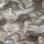Horse Anti-pill Polar Fleece Fabric Stallion Brown