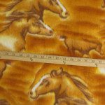 Horse Anti-pill Polar Fleece Fabric Big Gold