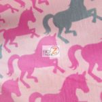 Horse Anti-pill Polar Fleece Fabric Fairy Unicorns
