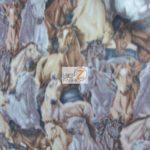 Horse Anti-pill Polar Fleece Fabric Stampede