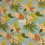 Trendtex Fabrics Fleece Fabric Plumeria Flower Blue