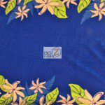 Trendtex Fabrics fleece fabric Tiare Flower Blue