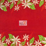 Trendtex Fabrics Fleece Fabric Tiare Flower Red