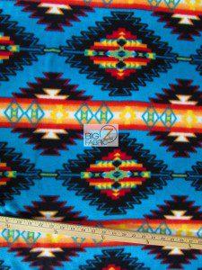 Indian Aztec Baum Textile Mills Fleece Fabric