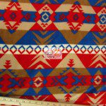 Baum Textile Mills Fleece Fabric indian Warrior Navy