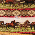 Baum Textile Mills Fleece Printed Fabric Horse Aztec Rider