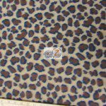 Leopard Anti Pill Fleece Fabric Light Mocha