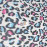 Leopard Anti-pill Polar Fleece Fabric Vintage Rainbow
