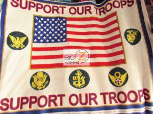 American Flag Support Our Troops Fleece Fabric