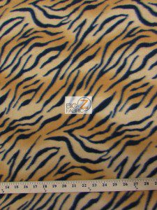 Fleece Printed Fabric Animal Tiger