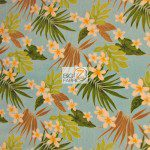 Floral Fleece Printed Fabric Plumeria Flower Blue By Trendtex Fabrics