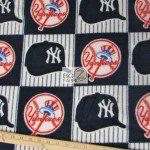 New York Yankees By Fabric Traditions MLB Fleece Fabric