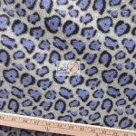 Cheetah Polar Fleece Fabric Gray Lavender
