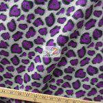 Cheetah Polar Fleece Fabric Gray Purple