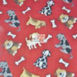 Dog Anti-pill Fleece Printed Fabric Friendly Pups