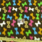 Dog Anti-pill Fleece Printed Fabric Rainbow Treats