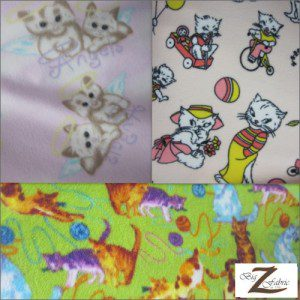 Cat Anti Pill Fleece Fabric