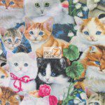 Cat Anti Pill Fleece Fabric Garden Cats