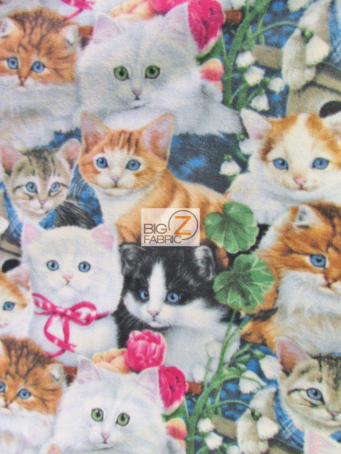 Cat Anti Pill Polar Fleece Fabric Anti Pill Fleece Fabric