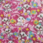 Cat Anti-pill Polar Fleece Fabric I Love Marie