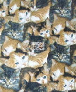 Cat Anti-pill Polar Fleece Fabric Wild Wings