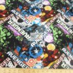 Marvel Comics Anti-pill Fleece Fabric Avengers