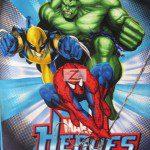 Marvel Comics Hulk Spider man Wolverine Fleece Fabric