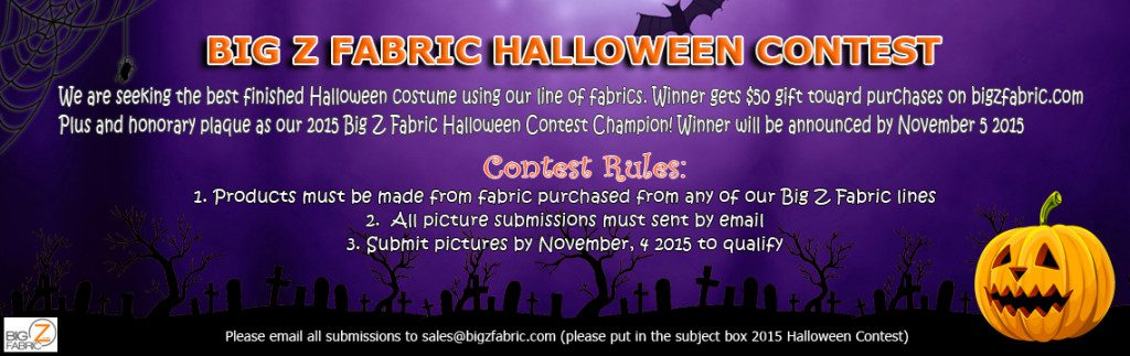 2015 Fleece Fabric Halloween Costume Contest