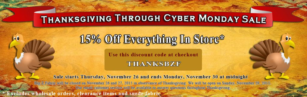 Big Z Fabric Thanksgiving Anti-pill Fleece Sale