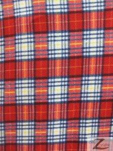 Christmas Colors Tartan Plaid Fleece Fabric