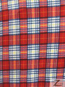 Christmas Colors Tartan Plaid Fleece Fabric