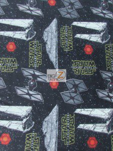 Star Wars The Force Awakens Space Invasion Fleece Fabric