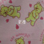 Bear Anti-pill Fleece Fabric Hearts