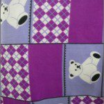 Bear Anti-pill Fleece Fabric Teddy Purple