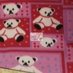 Bear Anti-pill Fleece Fabric Teddy Red